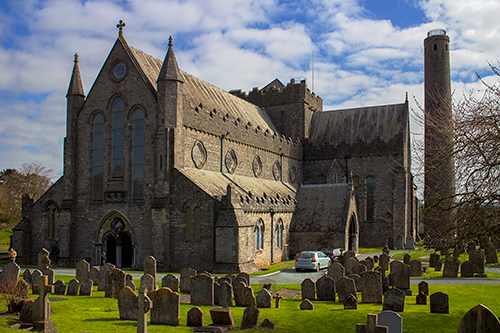 The impressive 13th century St Canice's Cathedral, Kilkenny