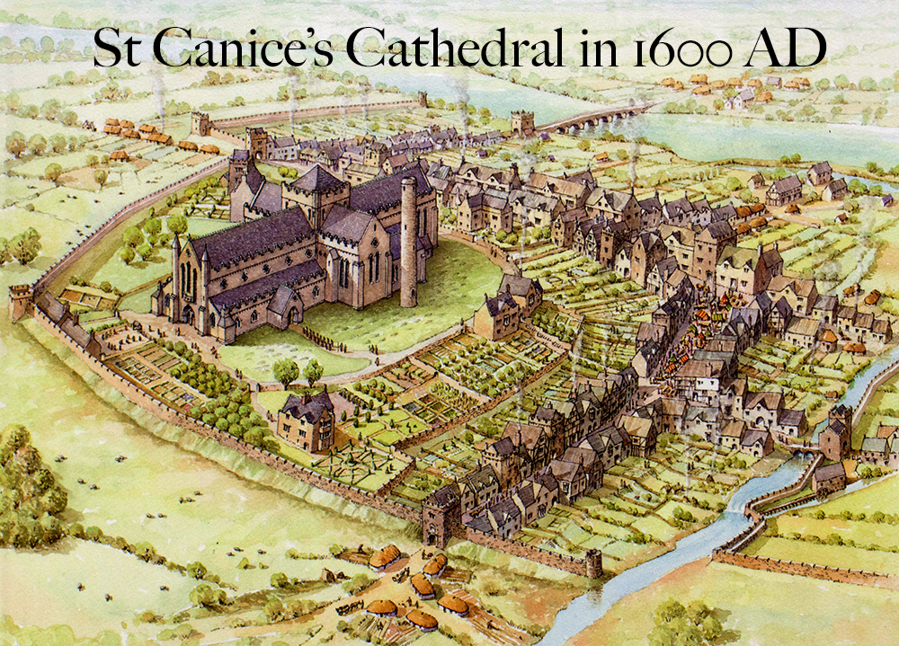 St Canices' Cathedral Kilkenny in 1600 AD
