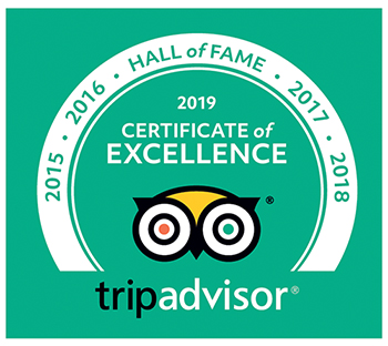 trip advisor certificate of excellence 5 years